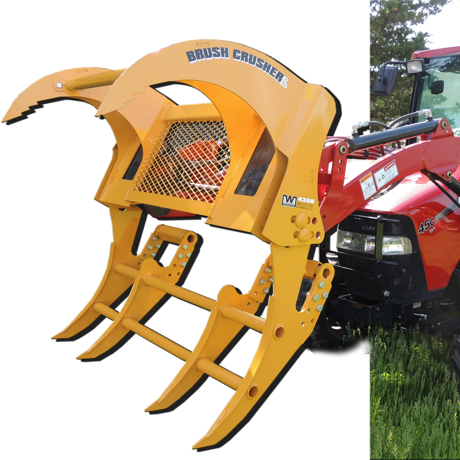 Universal Skid Steer Brush Crusher