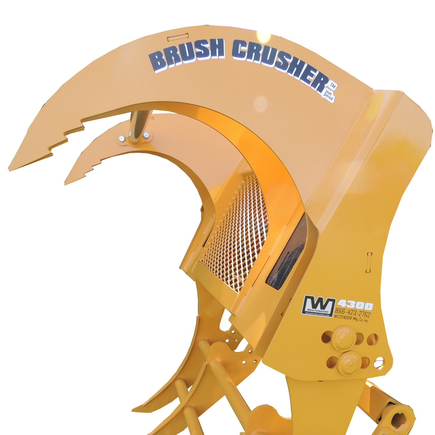 The Brush Crusher™ operates off the bucket 